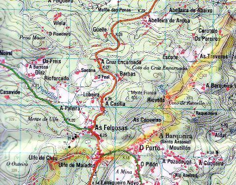 chemin de compostelle carte ign images du chemin de Compostelle portugais