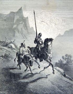 Don Quichotte et Sancho Panza par Gustave Doré